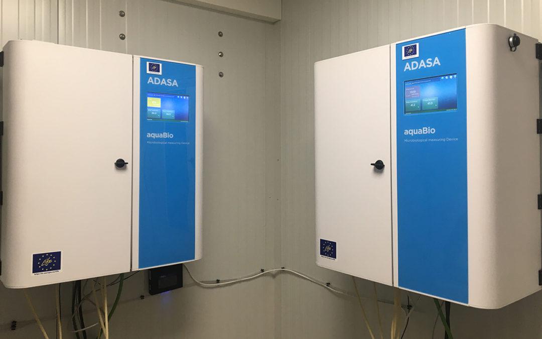 AquaBio start-up of the online monitoring